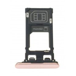 Sony Xperia XZ F8331 - SIM and microSD holder pink - original