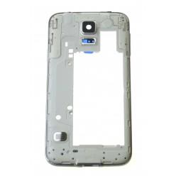 Samsung Galaxy S5 Neo G903F rám stredový strieborná originál