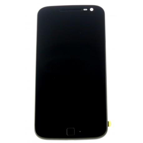 Lenovo Moto G4 Plus - LCD displej + dotyková plocha + rám čierna