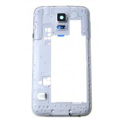 Samsung Galaxy S5 G900F rám stredový strieborná OEM