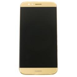 Huawei G8 (RIO-L01) - LCD displej + dotyková plocha + rám zlatá