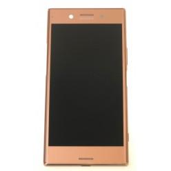 Sony Xperia XZ Premium G8141, XZ Premium Dual (G8142) - LCD displej + dotyková plocha + rám růžová - originál
